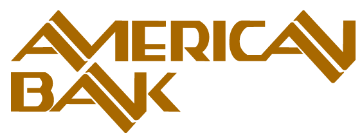 American Bank Montana gold logo GIF, transparent background