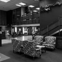 Lobby of an American Bank branch