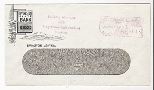 An envelope from Livingston State Bank dated July 20, 1961.