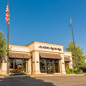 The front of American Bank in Bozeman