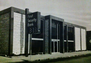 Old photo of First Security Bank in Montana